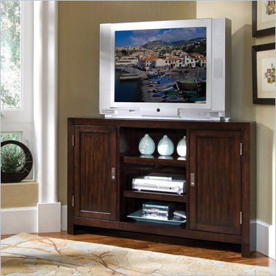 Home Styles City Chic Entertainment Corner TV Stand in Espresso