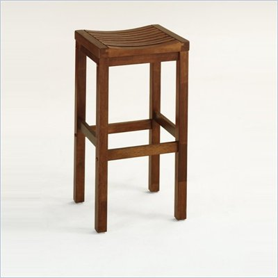 Home Styles Furniture Solid Hardwood 24 Inch Bar Stool in Cottage Oak Finish