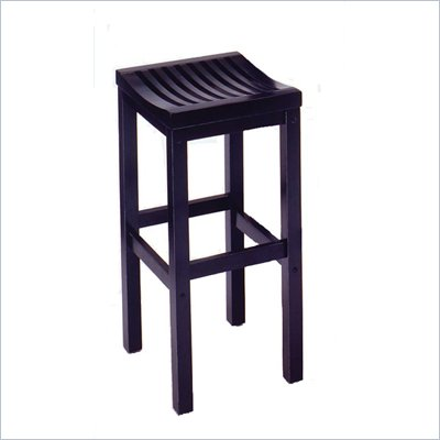 "Home Styles Furniture Contour 29"" High Black Solid Hardwood Bar Stool"
