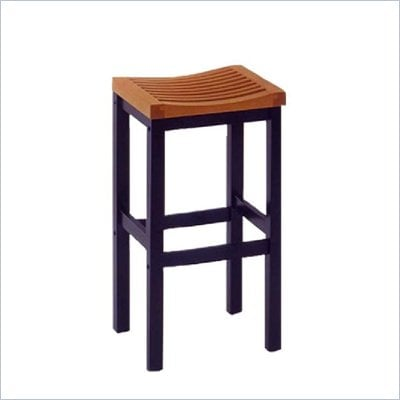 Home Styles Furniture Contour 29&quot; Solid Hardwood Bar Stool in Black and Oak