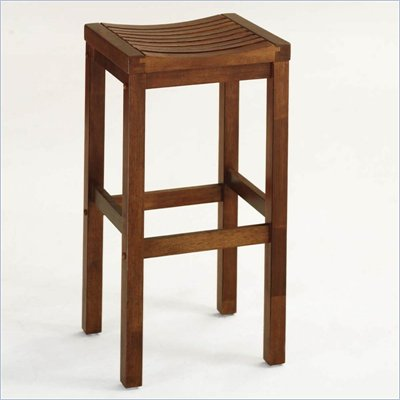 "Home Styles Furniture 29"" Solid Hardwood Backless Bar Stool in Oak"