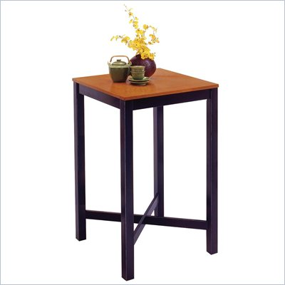 Home Styles Furniture Contour Black and Oak Veneer Pub Table