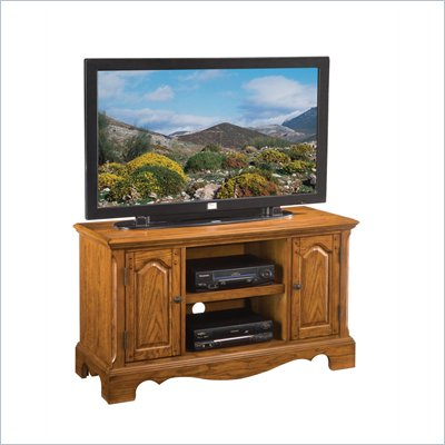 Home Styles Country Casual Wood TV Stand in Distressed Oak Finish