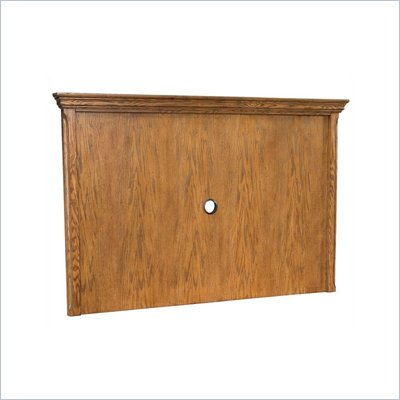 Home Styles Country Casual Back Panel in Distressed Oak Finish