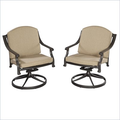 Home Styles Covington Cushioned Swivel Chair