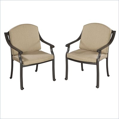 Home Styles Covington Cushioned Arm Chair Pair