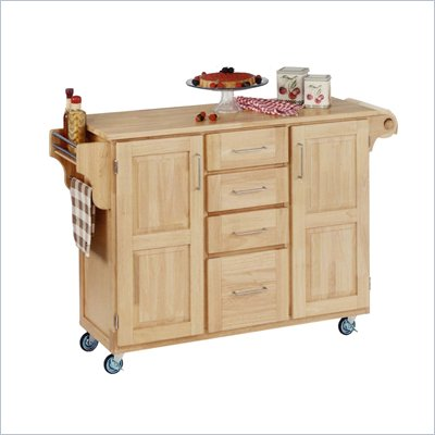Home Styles Furniture Kitchen Cart in Natural Finish