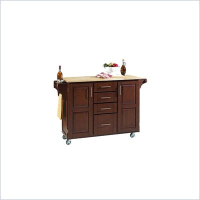 Home Styles Furniture Cherry Kitchen Cart