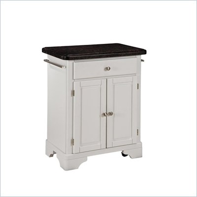 Home Styles Premier Create-a-Cart 28 Inch Salmon Granite Top Kitchen Cart in White