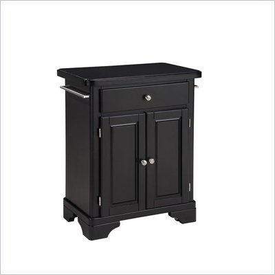 Home Styles Premier Create-a-Cart 28 Inch Wood Top Kitchen Cart in Black