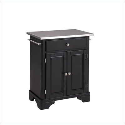 Home Styles Premier Create-a-Cart 28 Inch Steel Top Kitchen Cart in Black