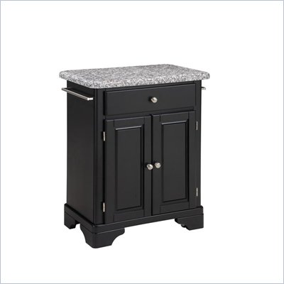 Home Styles Premier Create-a-Cart 28 inch Grey Granite Top Kitchen Cart in Black