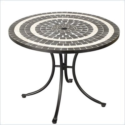 Home Styles Delmar Table in Black &amp; Gray