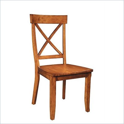 Home Styles Furniture Wood Side Chair in Oak Finish (Set of 2)