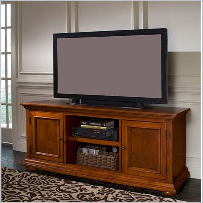 Home Styles Furniture Homestead Wood LCD/Plasma TV Stand in Distressed Warm Oak