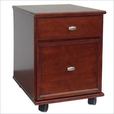 Home Styles Hanover 2 Drawer Mobile Wood Lateral File Cabinet in Cherry