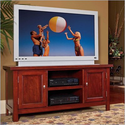 Home Styles Hanover Wood TV Stand in Cherry
