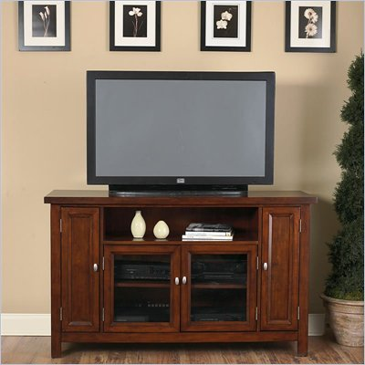 Home Styles Hanover Wood LCD/Plasma TV Stand in Cherry Finish