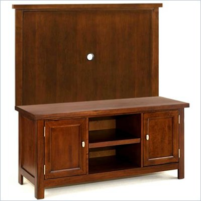 Home Styles Furniture Hanover Wood TV Stand with Back Panel in Cherry