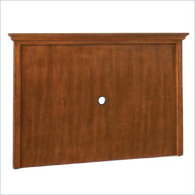 Home Styles Furniture Homestead Entertainment Center Back Panel in Distressed Warm Oak Finish