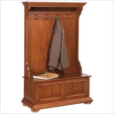 Home Styles Homestead Hall Tree in Distressed Warm Oak Finish