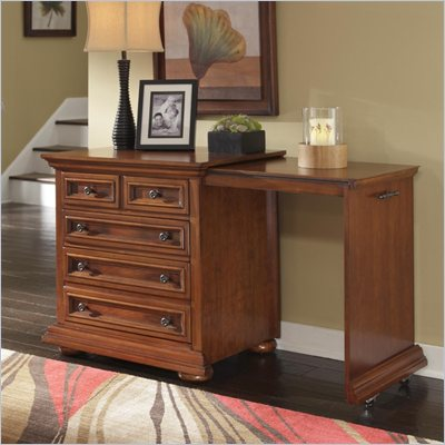 Home Styles Homestead Expand-a-Desk in Distressed Nutmeg Finish