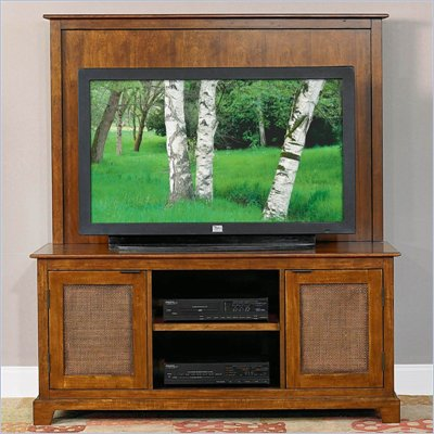 Home Styles Furniture Jamaican Bay Wood TV Stand in Mahogany