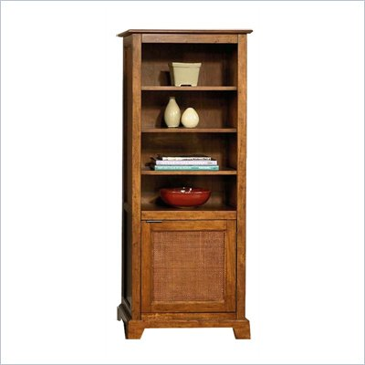 Home Styles Furniture Jamaican Bay 4 Shelf Wood Pier Cabinet in Soft Mahogany