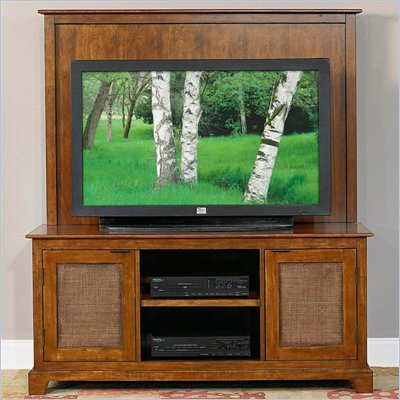 Home Styles Furniture Jamaican Bay 56 Inch Wood TV Stand in Mahogany