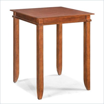 Home Styles Jamaican Bay Square Bistro Table in Soft Mahogany