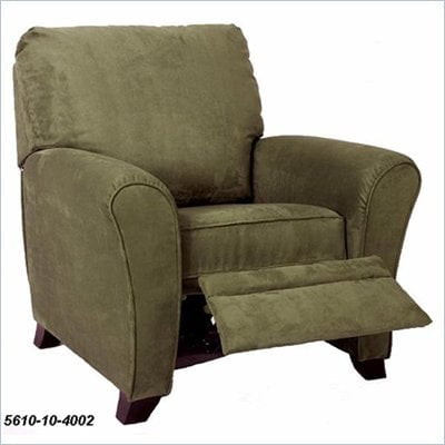 Home Styles Furniture Kingsman Microfiber Recliner in Olive
