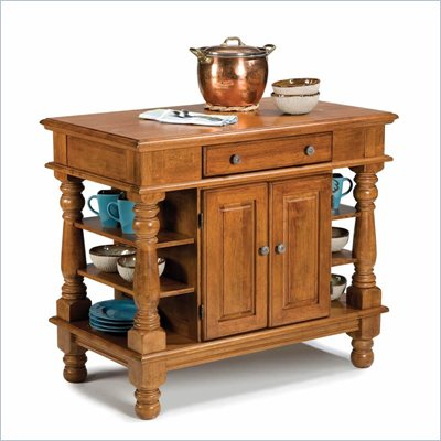 Home Styles Americana Kitchen Island in Distressed Cottage Oak Finish