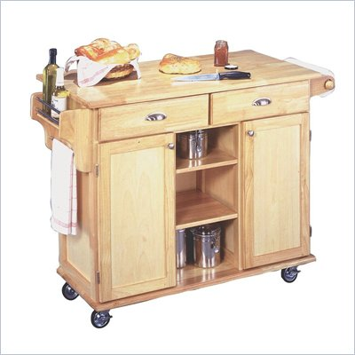 Home Styles Furniture Napa Kitchen Cart in Natural Finish
