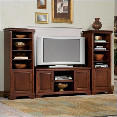 Home Styles Furniture Lafayette 3 PC Wood Entertainment Center in Cherry