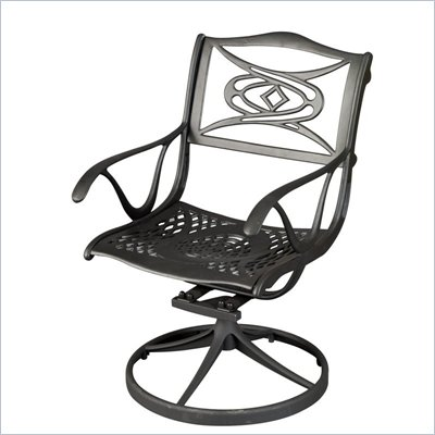 Home Styles Malibu Dining Swivel Chair in Black Finish