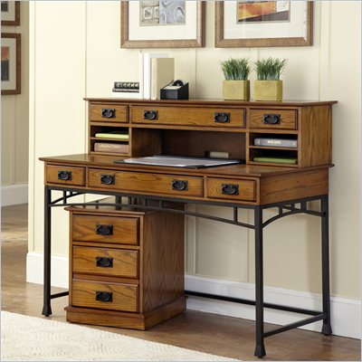Home Styles Modern Craftsman Executive Desk and Mobile File Set