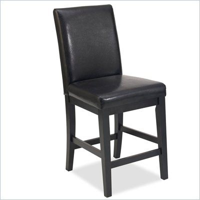 Home Styles Nantucket Bar Stool in Distressed Black