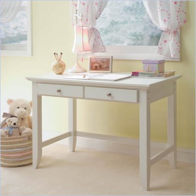 Home Styles Naples Student Desk in White Finish