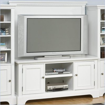 Home Styles Naples Entertainment Credenza with Back Panel Set