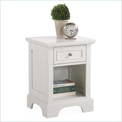 Home Styles Naples 1 Drawer Nightstand in White Finish