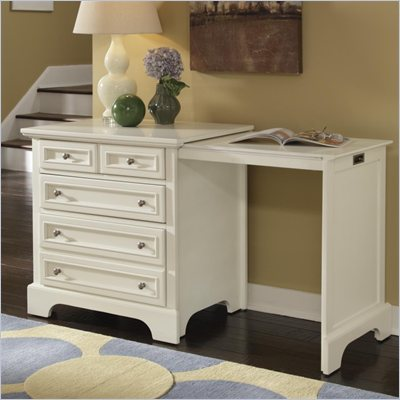 Home Styles Naples Expand-a-Desk in White Finish