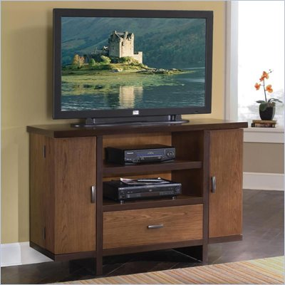 Home Styles Omni Deluxe TV Stand in Walnut Finish