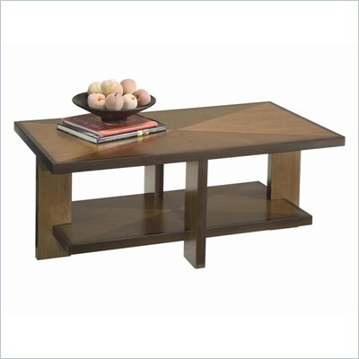 Home Styles Omni Rectangular Wood Coffee Table in Walnut Finish