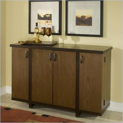 Home Styles Omni Bar Cabinet in Walnut Finish