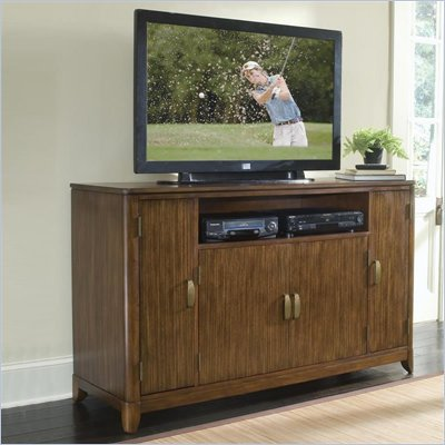 Home Styles Paris Tall TV Stand in Walnut Finish