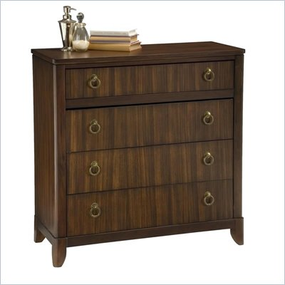 Home Styles Paris 4 Drawer Chest in Mahogany