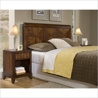 Home Styles Paris Queen Headboard &amp; Night Stand in Mahogany