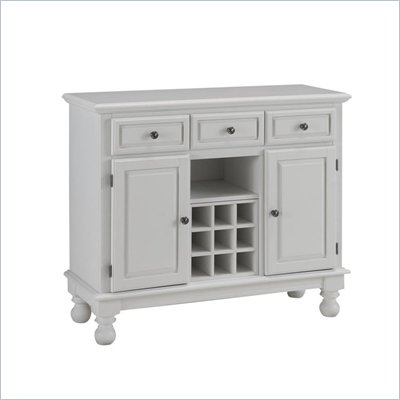 Home Styles Premier Wood Top Buffet Server in White
