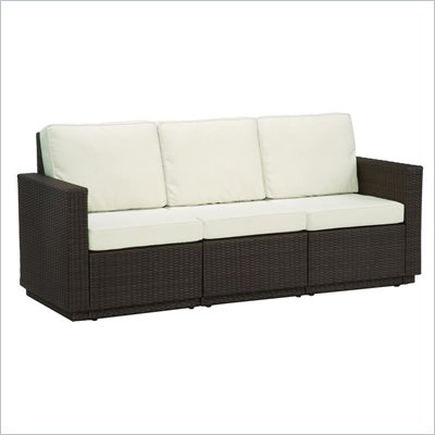 Home Styles Riviera Three Seat Sofa in Stone