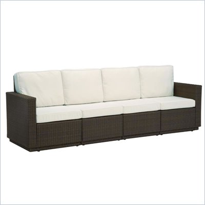 Home Styles Riviera Four Seat Sofa in Stone